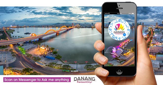 Người sử dụng có thể có thể tra cứu mọi thông tin về du lịch Đà Nẵng thông qua ứng dụng chatbot. Ảnh SDL TP Đà Nẵng.