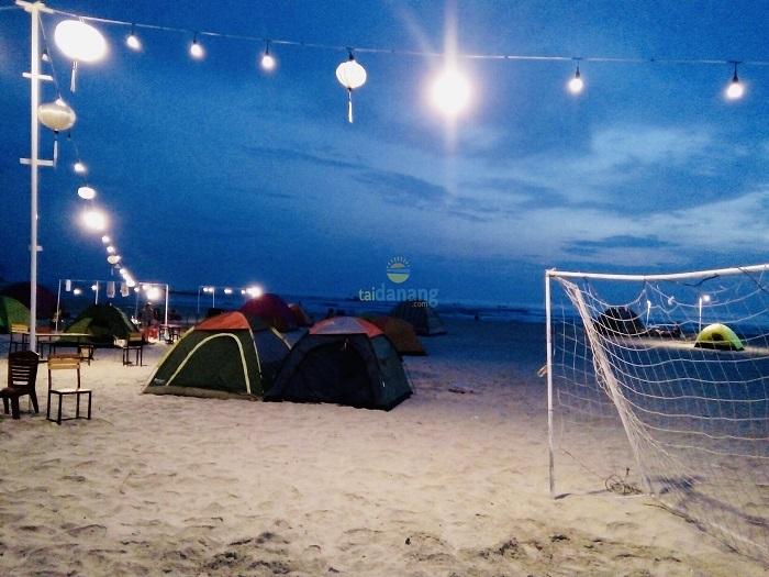 cảnh Dương Beach Camp không gian lý tưởng cho hoạt động cắm trại
