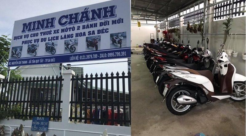 Thuê xe máy TP Sa Đéc - Minh Chánh