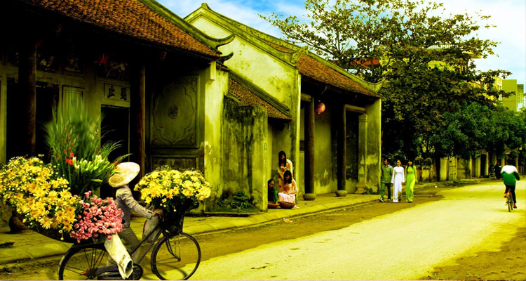 Phong cảnh làng quê ở Hưng Yên